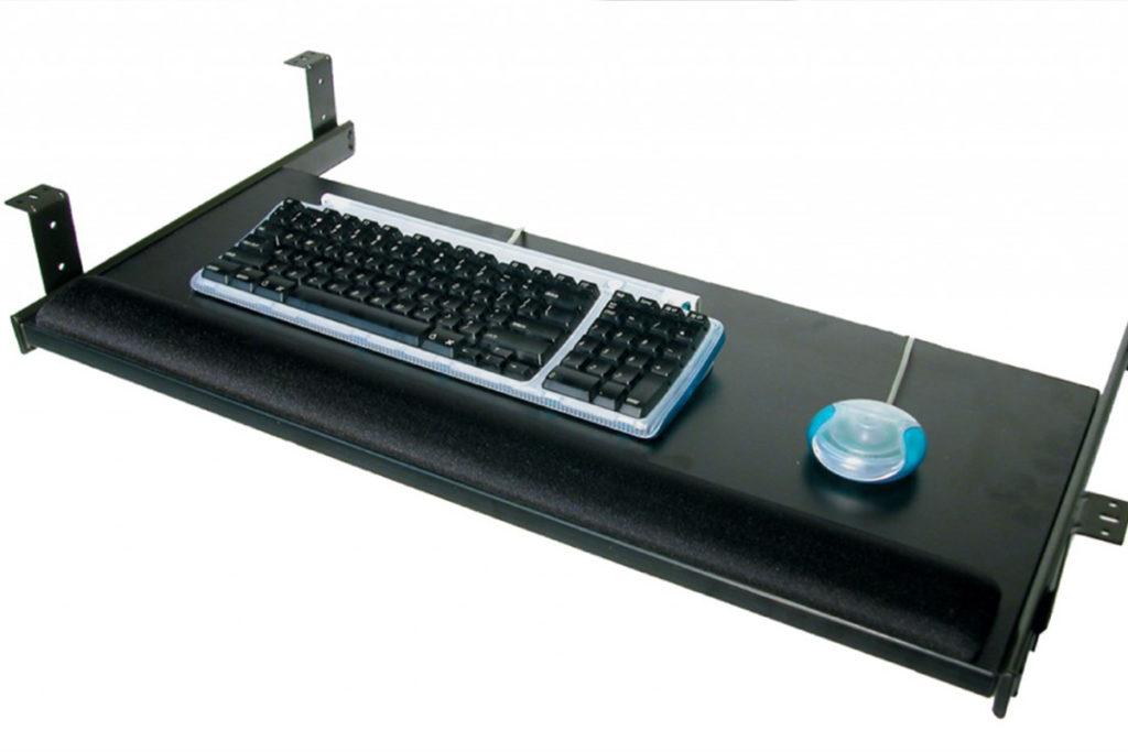 12-Tiroir a clavier coulissant