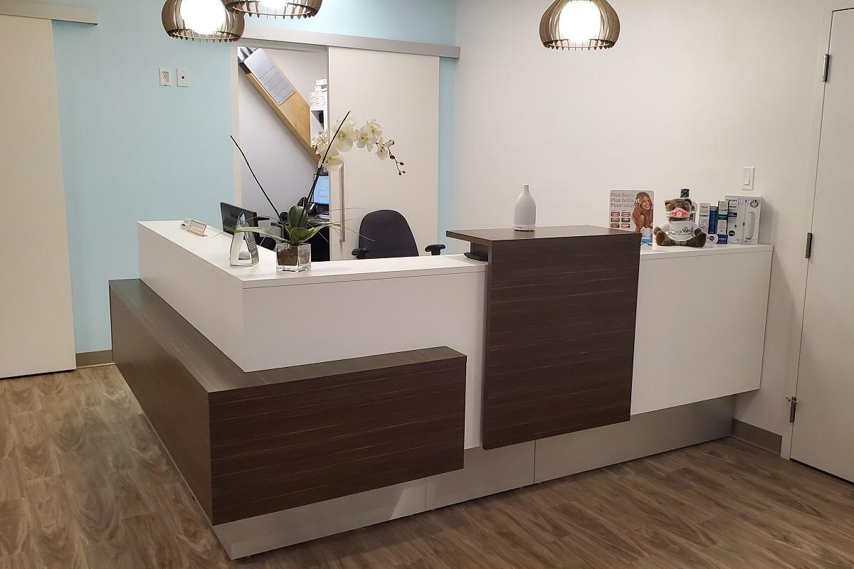 Réception Clinique dentaire Dre Susan Biner
