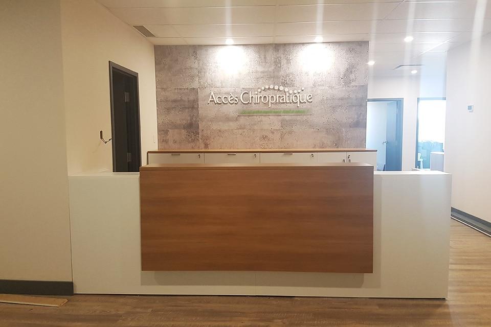 Clinique Acces Chiropratique réception
