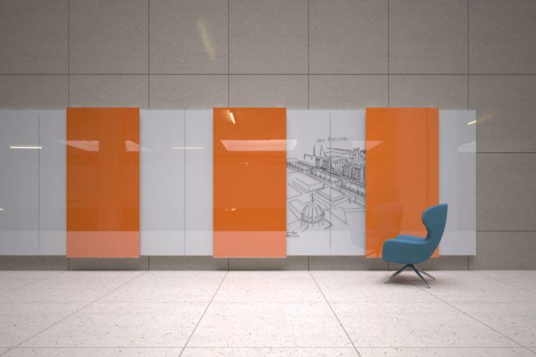 Tableaux de présentation en verre